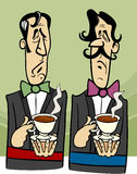 Dignified gentlemen cartoon illustration Stock Photo