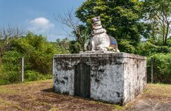 Dignitärmausoleum på området Raja Tombs, Madikeri Indien Arkivfoton
