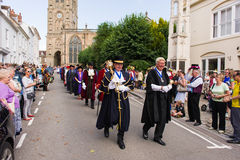Dignitary procession Royalty Free Stock Photography
