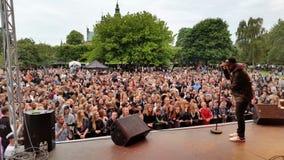 Dignity Copenhagen 2015. The group Ukendt Kunstner performs in Kongens Have Royalty Free Stock Photography