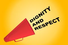 Dignity and Respect concept Royalty Free Stock Images