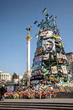 Dignity Revolution - Euromaidan Kiev, Ukraine Stock Photo