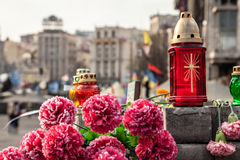 Dignity Revolution - Euromaidan Kiev, Ukraine Stock Photography
