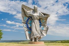 Dignity Sculpture of American Indian Woman. Stock Photography