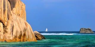 digue海岛la塞舌尔群岛 免版税库存照片