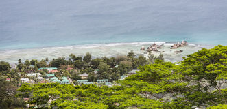 Береговая линия Digue Ла, Сейшельские островы Стоковые Изображения