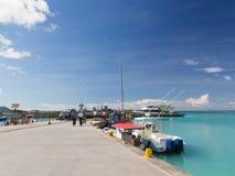 Порт острова Ла Digue Стоковое Изображение RF