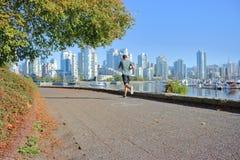 Digue du ` s d'exercice et de Vancouver photos libres de droits