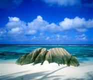 digue la塞舌尔群岛 库存照片