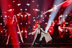 DiHaj from Azerbaijan Eurovision 2017 Royalty Free Stock Photo