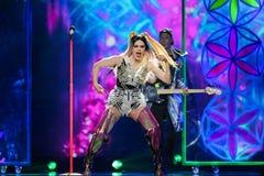 Dihaj from Azerbaijan at the Eurovision Song Contest Royalty Free Stock Photo