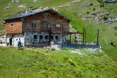 Caraiman mountain hut Royalty Free Stock Images