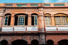 Dihua Street, old buildings at Taipei, Taiwan stock photo