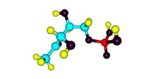 Dihydrogen φωσφορικού άλατος δομή που απομονώνεται μοριακή στο λευκό Στοκ φωτογραφία με δικαίωμα ελεύθερης χρήσης
