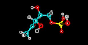 Dihydrogen φωσφορικού άλατος δομή που απομονώνεται μοριακή στο Μαύρο Στοκ Εικόνες