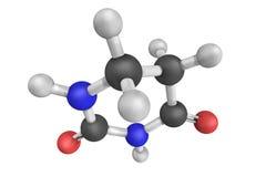Dihydrouracil, een tussenpersoon in het katabolisme van uracil 3D M Stock Afbeeldingen