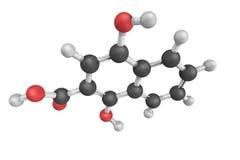 1-4-dihydroxy-2-napthoate ett enzym som katalyserar kemikalien Royaltyfria Foton
