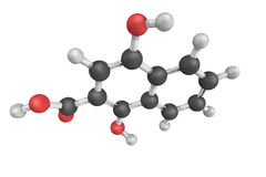 1-4-dihydroxy-2-napthoate, uma enzima que catalise o produto químico Fotos de Stock Royalty Free