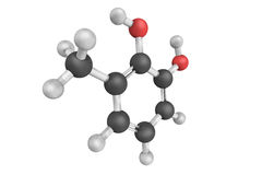 Dihydroxytoluol, eine chemische Verbindung alias 3-Methylcate Lizenzfreie Stockfotos