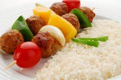 Diiner de Kebab fotografia de stock royalty free