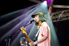 Diiv (band) performs at Primavera Sound 2015 Festival stock photos