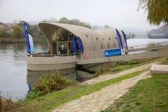 Dijk in Schengen, Luxemburg Stock Fotografie