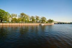 Dijk in st. Petersburg Stock Foto