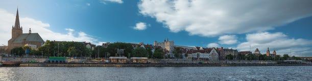 Dijk van de Oder in Szczecin royalty-vrije stock afbeeldingen