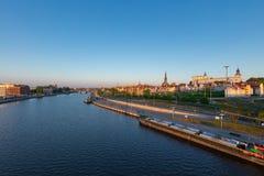 Dijk van de Oder in Szczecin stock fotografie