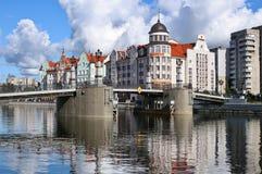 Dijk van het Visserijdorp in Kaliningrad Royalty-vrije Stock Afbeeldingen