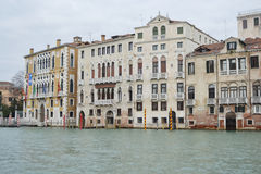Dijk van Kanaal Grande in Venetië Royalty-vrije Stock Foto's