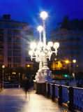 Dijk van La Concha in ochtend in San Sebastian Royalty-vrije Stock Foto