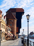 Dijk van Motlawa rivier, Gdansk Stock Afbeelding