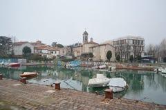 Dijk van Porto Canale Stock Foto's