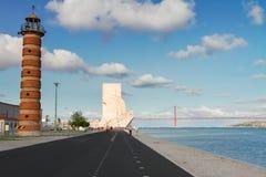 Dijk van rivier Tagus, Lissabon, Portugal Royalty-vrije Stock Afbeelding