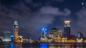 Dijk van Shanghai in nacht royalty-vrije stock afbeelding