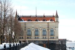 Dijk van stad van Yaroslavl. Stock Foto's
