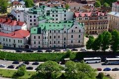 Dijk in Vyborg, Leningrad oblast, Rusland Royalty-vrije Stock Foto's