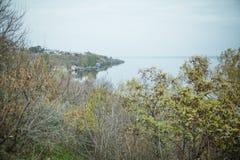 dijkstraat, stad Mykolaiv de Oekraïne stock fotografie