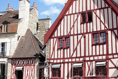 Dijon, Burgundy, France historic town square old buildings Royalty Free Stock Photos