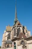 Dijon Cathedral in der Stadt von Dijon, Frankreich lizenzfreies stockfoto