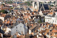 Aerial view of the historical centre of Dijon. Dijon is a city in eastern France, capital of the Burgundy region royalty free stock photos