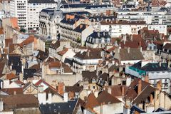 The roofs of Dijon. Dijon is a city in eastern France, capital of the Burgundy region stock photography