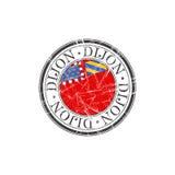 Dijon city stamp Stock Image