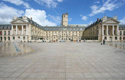 Dijon, France. Liberation Square and the Palace of Dukes of Burgundy (Palais des ducs de Bourgogne) in Dijon, France. Beautiful town Stock Images