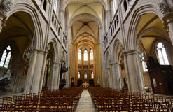 Dijon, France - april 22 2016 : cathedral Stock Images