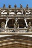 Gargoyles of Notre Dame in Dijon. DIJON, FRANCE, May 20, 2018 : Gargoyles of Notre-Dame of Dijon, a Roman Catholic church considered a masterpiece of 13th Royalty Free Stock Photos