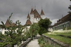 Dijon of medieval castle Thun, Lake Thun Royalty Free Stock Photos