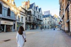 Dijon stad i Bourgogne, Frankrike Royaltyfri Fotografi