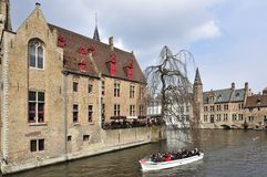 Dijver Canal Boat Tour Royalty Free Stock Photos